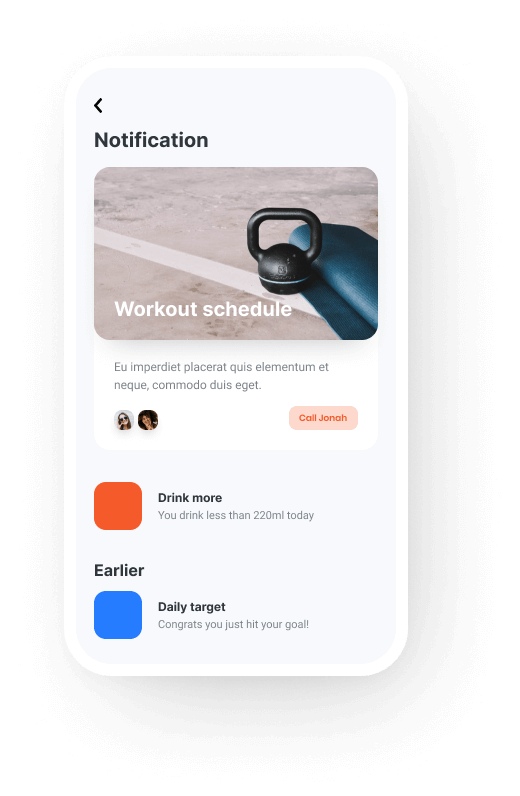 tech startup smart notification feature mobile img